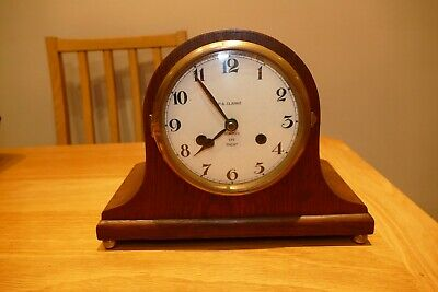 Upcycled vintage wooden mantle clock case with quartz movement. See details
