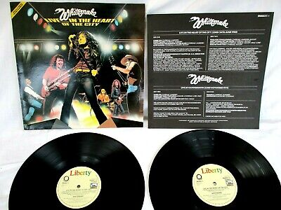 Whitesnake, Live..in The Heart Of The City,1980,Insert, Double Lp, Vg+ Condition