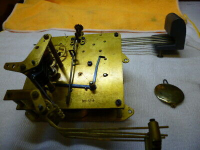 Antique Seth Thomas Mantel Clock movement w/ Westminster Chime assy, No.124