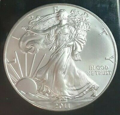 2011- $1 Coin 1 oz.American Eagle Silver Dollar Bullion BU