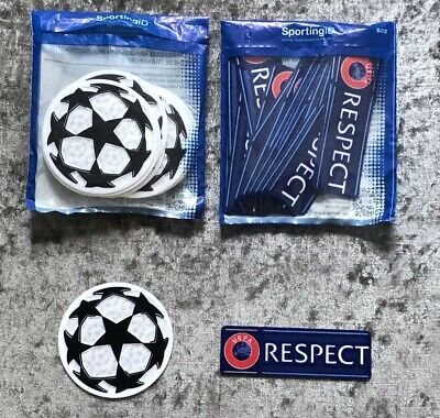 Manchester City - UEFA Champions League Starball & RESPECT Sleeve Patches/Badges