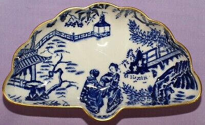 1970 Royal Crown Derby BLUE MIKADO English China Shell Candy Nut Trinket Dish