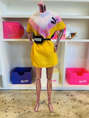 Barbie Fashion Pack PUMA Outfit for Doll Yellow Shirt Dress Set Fashionista Ken