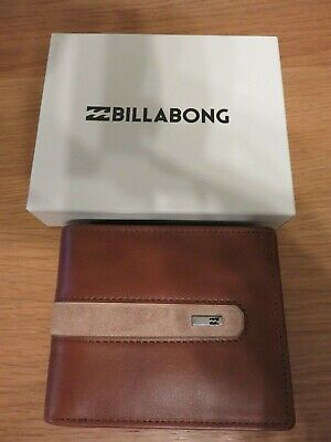 Billabong DBAH Leather Wallet - Colour: Tan - RFID Protection - 3 Fold - NEW