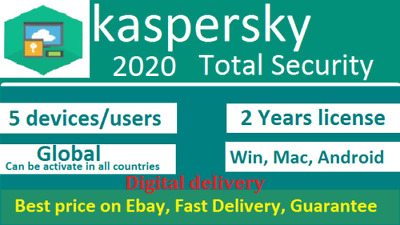 Kaspersky Total Security 2020 5 Devices 5 PC 2 Years Global, FOR WINDOWS