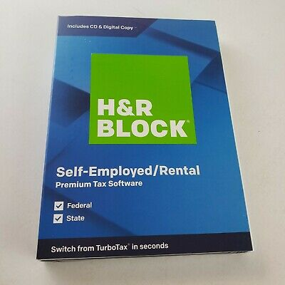 *NEW* H&R BLOCK Tax Software Premium 2019 PC/MAC DISK FACTORY SEALED FREE SHIP!!