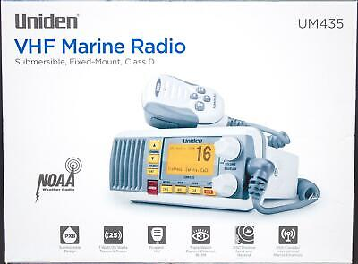 White UM345 Uniden UM435 Fixed Mount VHF Marne Boat Radio 25 Watt