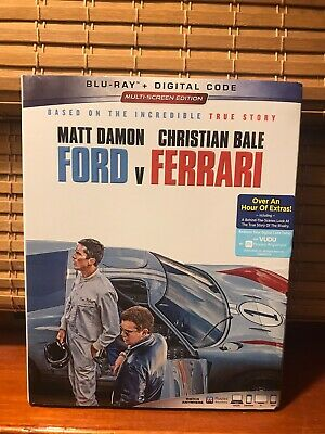 Ford V Ferrari - Blu-ray + Slipcover - 2020 Matt Damon