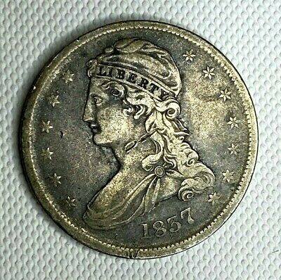 1837 Capped Bust Half Dollar 90% SILVER (EE0330)
