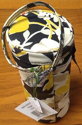 NWT Vera Bradley Ribbons Dogwood Thermal Baby or Water Bottle Caddy Holder