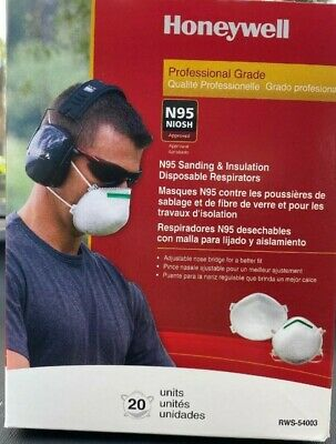 N95 Honeywell NIOSH Approved Particulate Respirator Masks (box of 20) FREE SHIP!