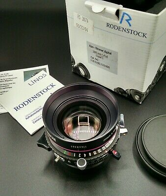 Rodenstock 180mm f=5.6 Apo-Sironar Digital lens.  Mint+++ in original box.
