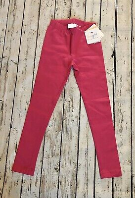 NWT HANNA ANDERSSON CLASSIC FIT BRIGHT BASICS CAPRI LEGGINGS PINK 120cm US 6 7