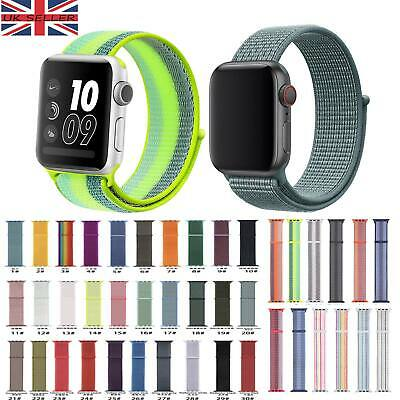 For Apple Watch Series 5/4/3/2/1 Strap Nylon Watch Band Sports Loop iWatch Band