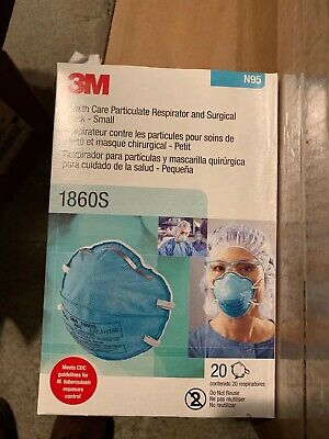 3M 1860 N95 REGULAR Health Care Particulate Surgical Mask 20pcs