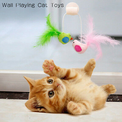 Cute Cat Toys Interactive Feather Cat Window Suction Cup Track Ball Pet Toy