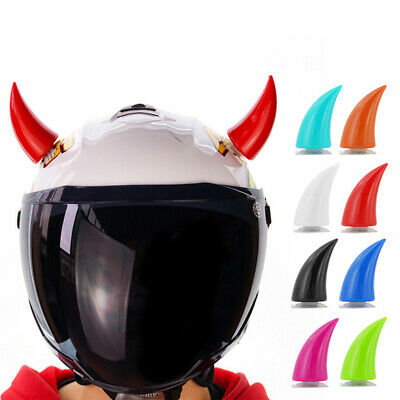 Helmet Stick On Devil Horns Suction Cup For Motorcycle Bike Ski Snowboard Helmet