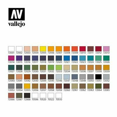 Vallejo Game Color Acrylfarbe Airbrush 72001 - 72106 17ml Warhammer Tabletop