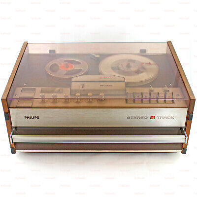 Philips N4407 Stereo Reel to Reel Tape Recorder 3 Speed Stereo System 1969