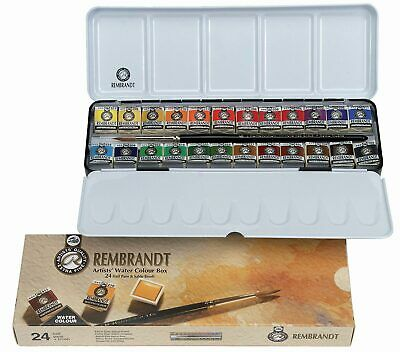 Rembrandt Watercolour Metal Deluxe Set of 24 Half Pans