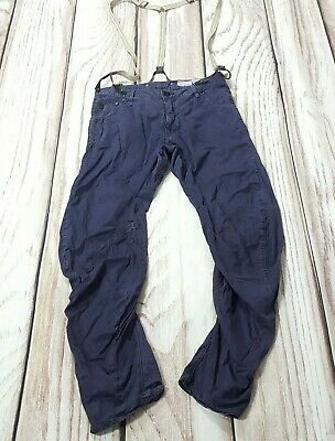 G Star Raw Arc 3D Loose Tapered Braces Trousers Casual Blue W32 L34