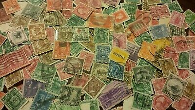 STAMPS USA US CANADA NEW ZEALAND OLD STOCK FROM ALBUMS LOT COLLECTION 100 stamps