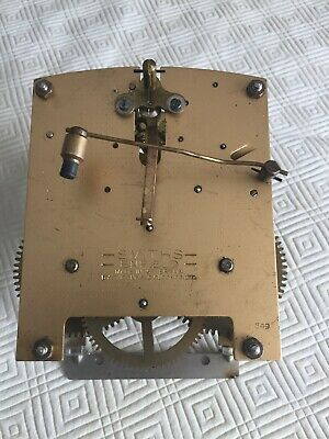 Vintage Smiths Enfield Mantle Clock Movement Spares or Repair , Working