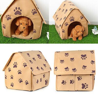 Indoor Foldable Sleeping Bag Kennel Cat Tent Puppy Mat Dog Bed Pet House