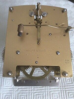 Vintage Smiths Enfield Mantle Clock Movement Spares or Repair, Clean And Working