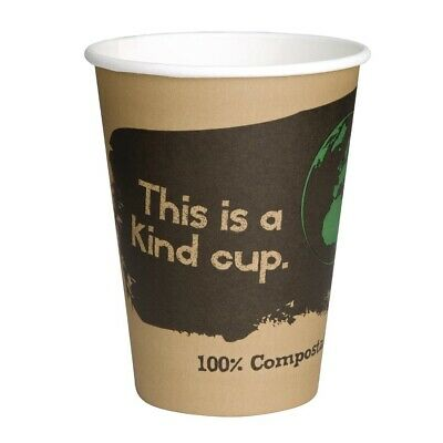 Fiesta Green Compostable Hot Cups Single Wall 225ml