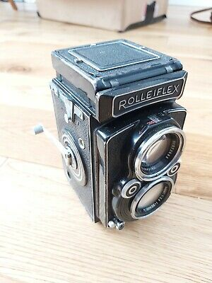 Rollei Rolleiflex 2.8/ 80mm f compur rapid Zeiss-Opton VINTAGE CAMERA WITH CASE