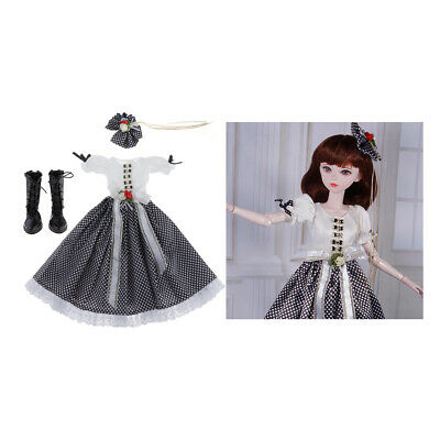 Fashionable BJD Clothes + Lace Up Boots for 1/3 Girl Dolls VOLKS Accessories