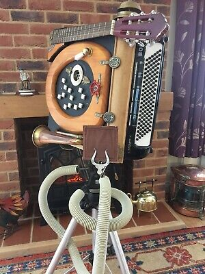 Steam Punk Piano Accordion Squeezebox Comedy Wacky Instrument Midi