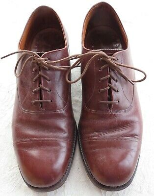 """1950's VINTAGE GENTS SHOES MADE IN ENGLAND by K SHOES OVERSIZE HEEL =1.5"""" / 34mm"""
