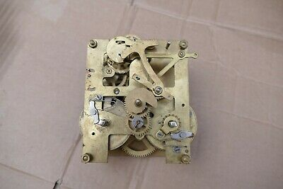 Incomplete / damaged chiming clock movement - spares or repair - see details.