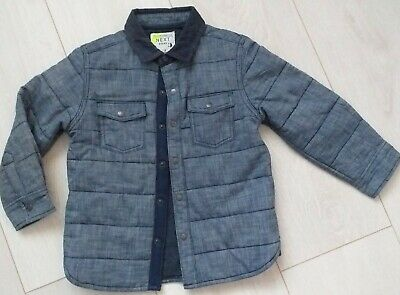 Boys NEXT Quilted Denim Style Jacket 18-24 / 1.5-2yrs Navy Blue Exc Cond
