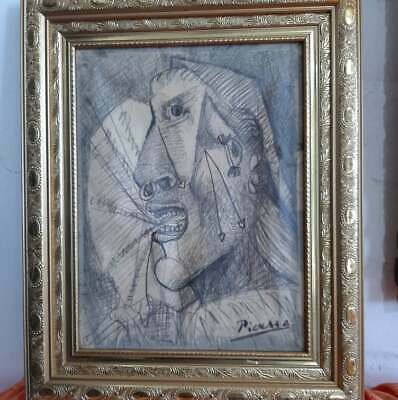 beautifuldrawing,pencil on cardboard,masterpiece of old painter,framedand signed