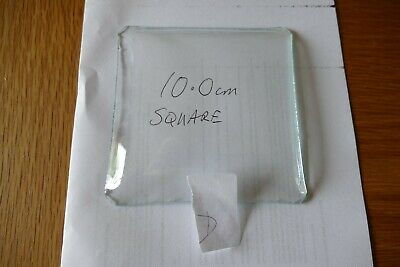 Square Convex clock glass D. 10.0 cm X 10.0 cm - note corner shape