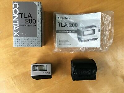 Contax TLA 200 Flash. For G1 G2 T3 boxed with Leather Case.
