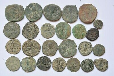 Lot 25 Anonymous Byzantine bronze Follis for cleaning