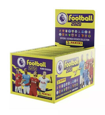 NEW! Panini Football 2020 Premier League Sticker Collection 20 X Packs Sealed