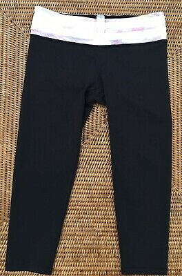Ivivva By Lululemon Black Reversible Crop Leggings Size 14
