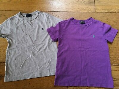 polo ralph lauren polpboys t shirts boys age 5, good used condion