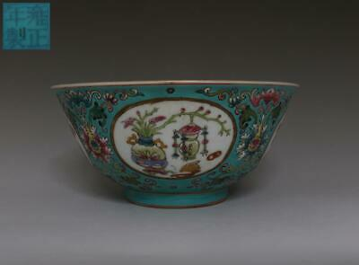 Very Fine Old Chinese Famille Rose Porcelain Flower Bowl Yongzheng Marked (426)