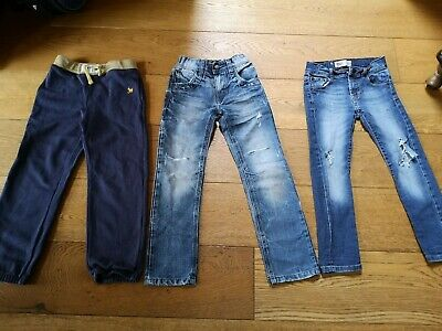 boys trouser bundle, jeans, joggers age 6 and 7 years used levis, boden, next