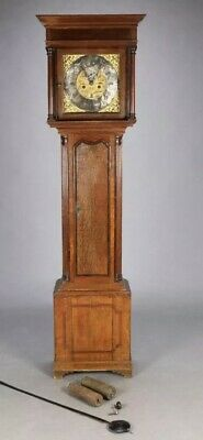 GRANDFATHER CLOCK Edward Barlow  XVIII  OLDHAM