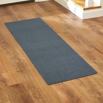 Berber Runner Rug with Non-Slip, Rubber Backing for Kitchens and Entrances