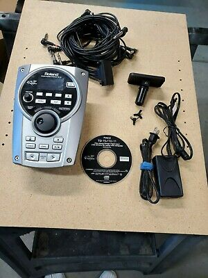 Roland TD-15 V-Drum Module w/Mount, Clamp, Wiring Harness & Power Supply Nice!