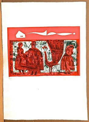 Adam Wurtz Hungarian Five Colored Etchings All Signed And Numbered In Pencil