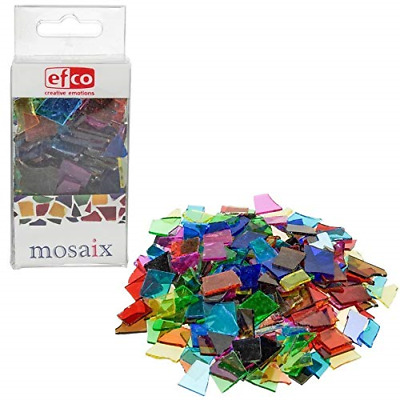Glass Mosaic Tiles Pieces 200g Assorted Multi-Colour Craft Arts Jewelry DIY